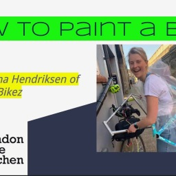 Happening Right Now! Gemma Hendriksen of No Boring Bikez & The London Bike Kitchen on How to Paint a Bike